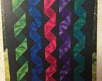 Cascading Ribbon Quilt Pattern