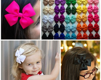 """4"""" Hair bow Bow Set - You pick 5"""