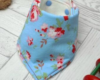 baby bandana bib, flower, dribble bib, drool catcher, new baby gift, baby bib, new baby gift idea, baby girl, baby accessories, baby shower