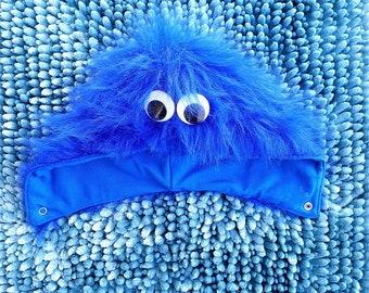 Cookie Monster baby toddler girl hood, cookie monster baby toddler kids costume, cookie monster photoshoot outfit, baby toddler fur hood