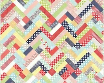 Another Lazy Sunday Pattern featuring Bonnie and Camille jelly roll by May Chappeli