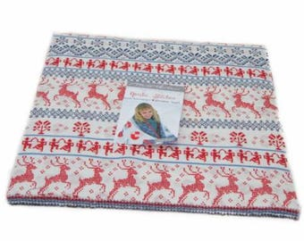 """Nordic Stitches Layer Cake (40 - 10"""" x 10"""" squares) designed by Wenche Wolff Hatling of Northern Quilts for Moda Fabrics"""