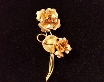 Vintage Harry Iskin 10K Gold Filled (1/20) Brooch  #85