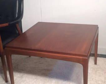 Mid century walnut Lane furniture side table