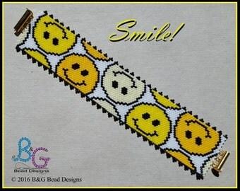 SMILE! Peyote Cuff Bracelet Pattern