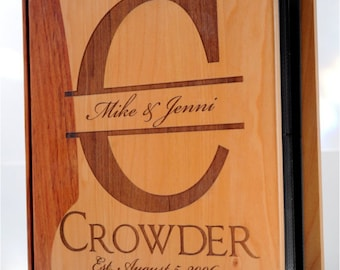 Personalized Maple & Rosewood Photo Album