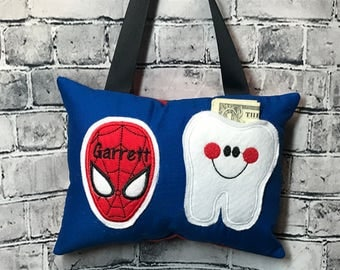 Tooth Fairy Pillow Boy or Girl Spiderman Toothfairy