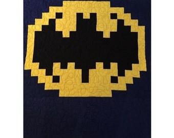Bat Quilt Pattern | Quilting Pattern | PDF pattern | immediate download | Superhero Quilt