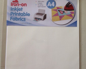 Iron on Inkjet Printable fabric, photo fabric, patchwork supplies, quilting photos