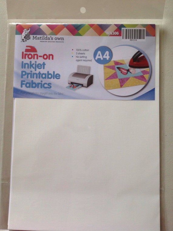 Hilaire image pertaining to printable iron on fabric