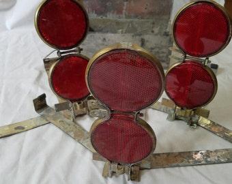 Vintage Stimsonite Reflector Flares Roadside Emergency Shelf Decoration Party in the Box