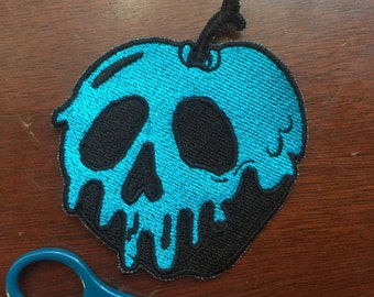 Blue Poison Apple 4x3in. Sew-on patch