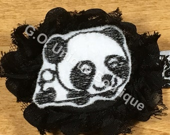 Panda 1-6 years Shabby Flower Headband