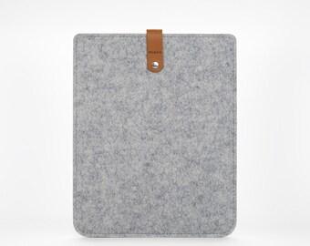 iPad Retina Case, iPad Cover, Felt iPad case, iPad Retina Sleeve, Felt and Leather iPad Sleeve - Grey Cover iPad Retina -Apple iPad