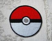 Pokeball embroidered iron...
