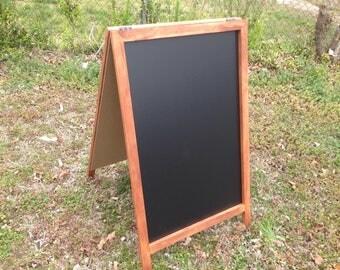 Rustic Double Sided A-Framed Chalkboard, Sandwich Chalkboard,Rustic Wedding Chalkboard, Kitchen Menu, Menu Board, Rustic Frame