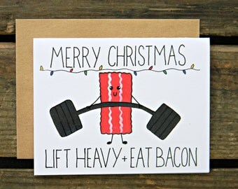 Crossfit/Bacon/Fitness Christmas Card