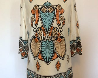 Vintage Tunic Top Blouse - L