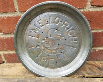 Vintage Mello-Rich Mrs. Smith's Embossed Pie Pan