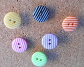 Fun Tacks, Stripey Map Pins, Bright Student Deco, Noticeboard Accessory, Office Decoration, Gifts for Women, Craft Room