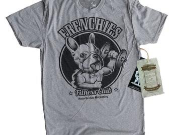 French Bulldog Shirt - Mens Gym Exercise Workout Doberman Frenchie Shirt