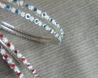 Indian bangles/Bollywood bangles/red Indian bangles /blue Indian bangles/ bangles (unused) 1980s