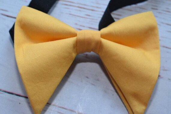 Pastel yellow floppy / butterfly bow tie  for Baby, Toddlers and Boys (Kids Bow Ties) with Braces/ Suspender