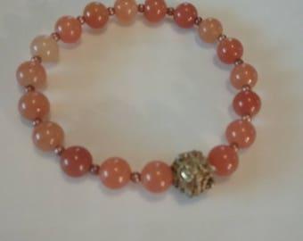 Yellow Aventurine! Stretch bracelet. One of a kind