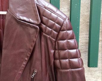 Adrien Parry Roberts leather jacket - 90s