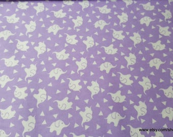 Flannel Fabric - Elephant Confetti Lavender Lily - 1 yard - 100 Percent Cotton Flannel