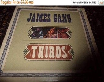 Save 30% Today Vintage 1971 LP Vinyl Record James Gang Thirds Very Good Condition ABC Records 2101
