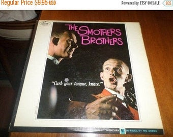Save 30% Today Vintage 1963 LP Record Curb Your Tongue Knave The Smothers Brothers Mercury Records 2997