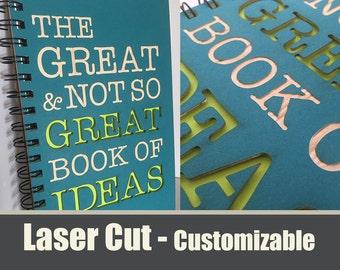 Great Ideas Inspirational Laser Cut Notebook Journal (Blue Cover)