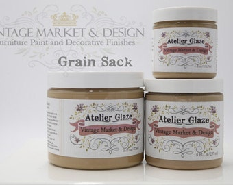 FREE SHIPPING!! Grain Sack- Vintage Market & Design's Furniture Atelier Glaze-All Natural(3 Sizes)