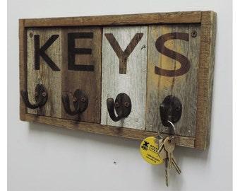 Reclaimed Barnwood Key Rack