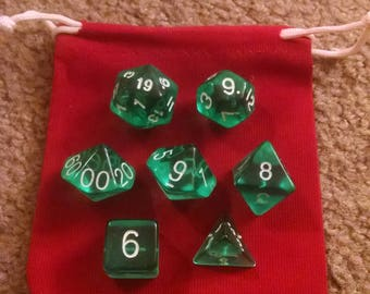 Teal Appeal - 7 Die Polyhedral Set with Pouch