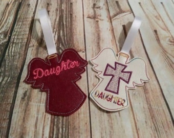 Daughter - Angel - Ornament - Cross -  DIGITAL EMBROIDERY Design