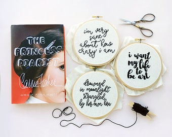 Carrie Fisher, In Memoriam . PDF Hand Embroidery Pattern Pack