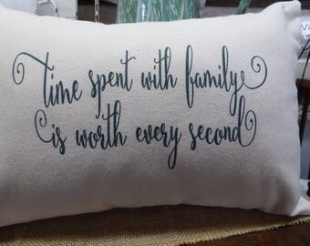 Decorative pillow, Inspirational saying, Family pillow, Farmhouse, Shabby Chic, Country French, Spiritual/Religious, Handmade