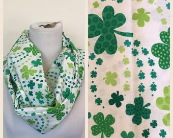 St. Patricks day scarf shamrocks  WILL SHIP QUICKLY