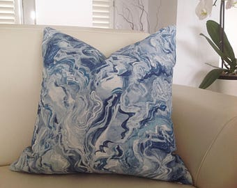 Cushions, Pillows, Blue Cushions, Ripple Cushion Covers, Modern Decorative Toss Pillows, Scatter Cushions, Toss Pillow, Covers Only