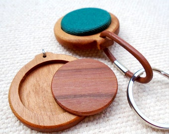 Handmade Wooden Keychain for Little Embroideries or illustrations