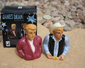 James Dean Giant and Rebel Without a Cause Salt and Pepper Shakers