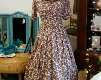 1960's Day Dress, Belted Beauty