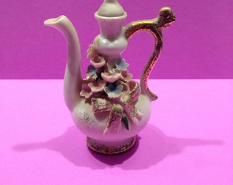 Antique, hand-painted, porcelain Ewer