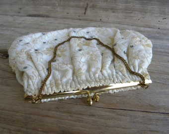 Vintage Hand Beaded Evening Bag / By Magid / Hand Beaded in the USA  / Evening Purse / Prom Purse / Wedding Clutch