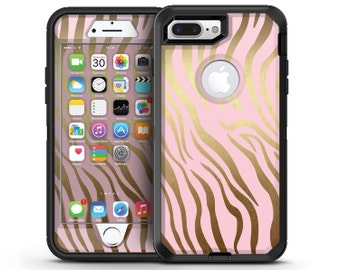 Pink Gold Flaked Animal v5 - OtterBox Case Skin-Kit for the iPhone, Galaxy & More