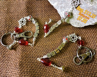 WITCH KEY CHAIN ~ Sale + Reduced S/H