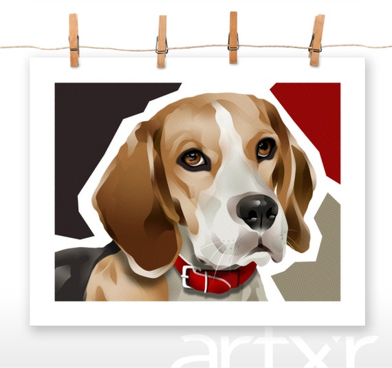 BEEGEE / The PET PROJECT / Beagle / Fine Art Print / Various Sizes