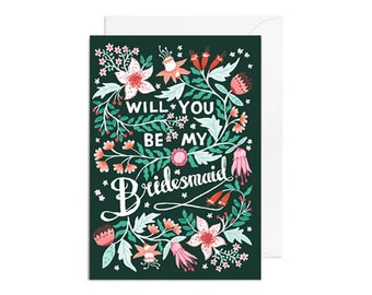 Greetings Card - Will You be my Bridesmaid, Wedding Greetings Card